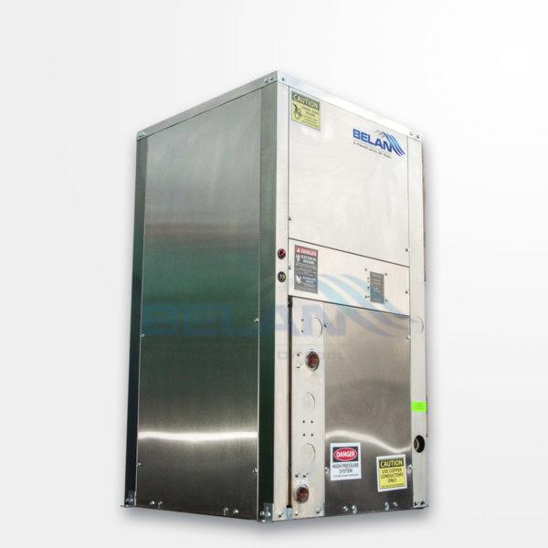 Geothermal water source heat pump vertical unit
