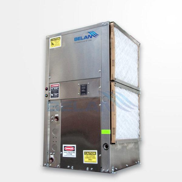 Geothermal water source heat pump vertica units